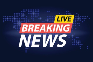 Live Breaking News headline in blue dotted world map background. Vector illustration