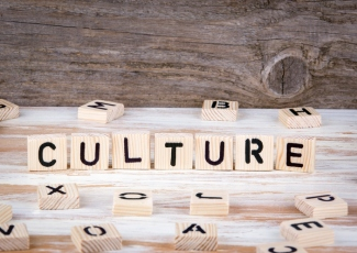 Culture from wooden letters