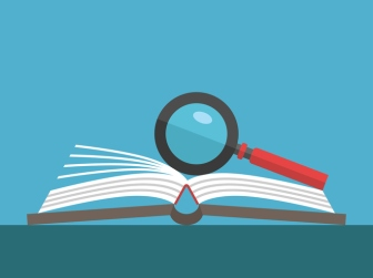 Magnifier on open book