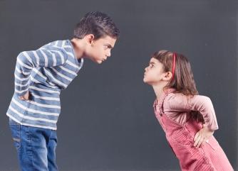 Kids having an argument